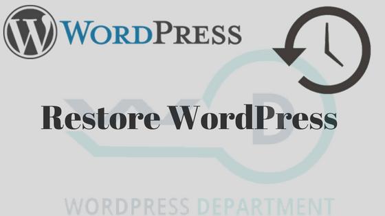Restore Hacked WordPress